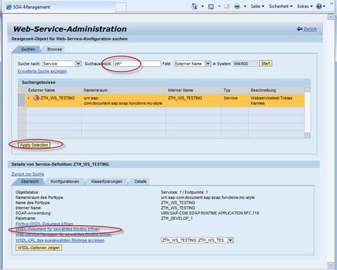 ABAP Webservice anlegen mit SOAMANAGER
