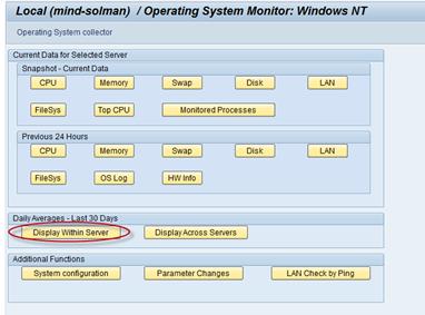 Betriebssyteminformationen aus dem SAP heraus