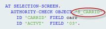 ABAP Editor - Berechtigungsprüfung mit AUTHORITY-CHECK