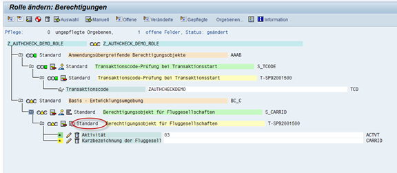 SAP Berechtigungsvorschlagswerte