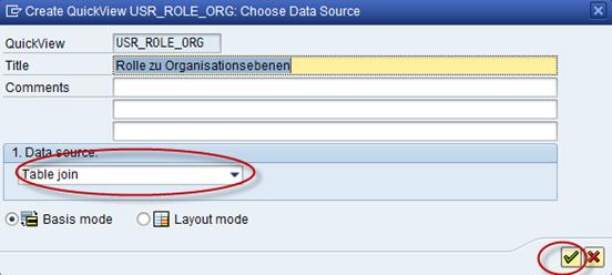SAP Create QuickView