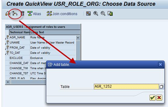 QuickView erstellen, Tabelle einfügen