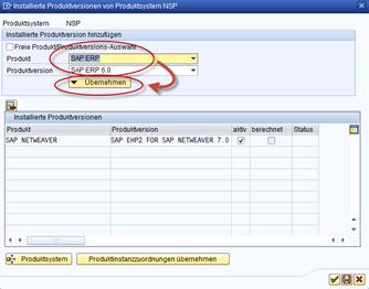 SAP SMSY Installierte Produktsysteme