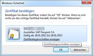 Internet Explorer Client Zertifikat Popup