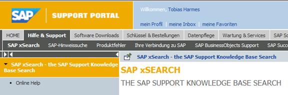 SAP Support Portal
