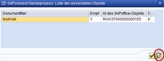 SAP SAPConnect Sendeprozess starten Trace anzeigen
