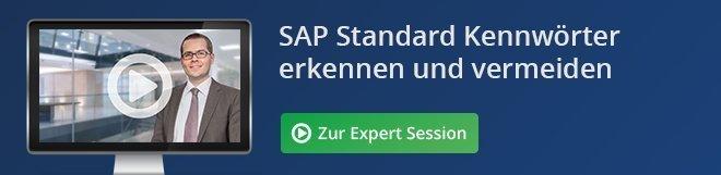 SAP Standard Kennwörter erkennen und vermeiden