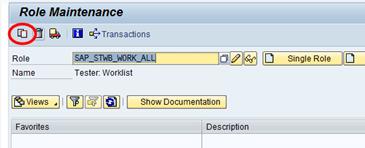 SAP Transaktion PFCG - Kopieren einer Standardrolle