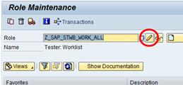 SAP Transaktion PFCG - Rolle ändern