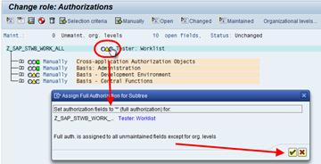 SAP PFCG Berechtigungsprofil Editor - Pflege der Berechtigungswerte