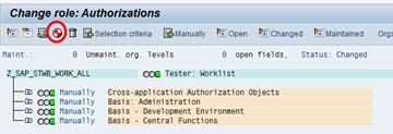 SAP PFCG Berechtigungsprofil Editor - Generierung des Profils