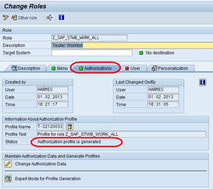 SAP Standardrollen