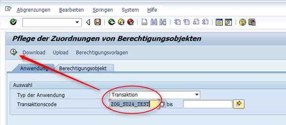 SU24 Pflege für eigene Transaktionen