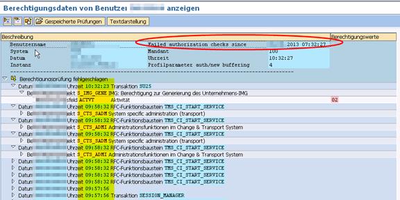 SAP SU53 Transaktion mit erweiterter Funktionalität