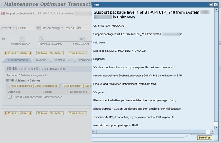 SAP Maintenance Optimizer