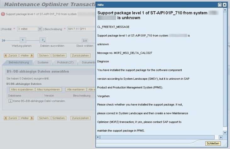 SAP Maintenance Optimizer
