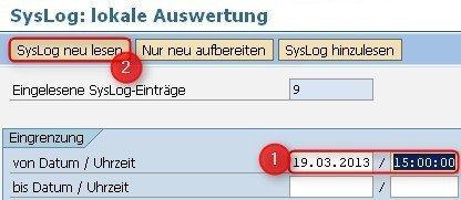 SM21 Systemlog prüfen - SAP User gesperrt