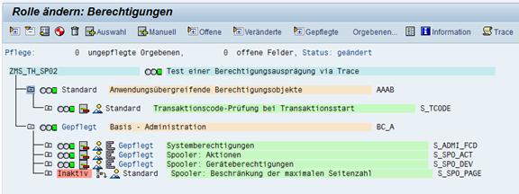SAP Berechtigungstrace