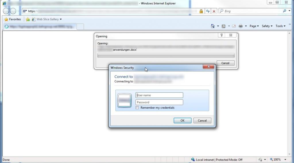 Erneute Authentifizierungsaufforderung bei MS Office-Dateien