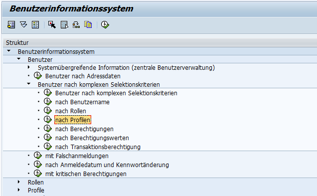 Abbildung 1: Benutzer nach Profilen abfragen