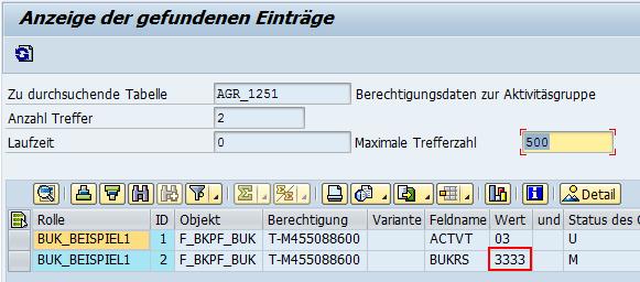Abbildung 5: AGR_1251 - Individueller Wert gepflegt