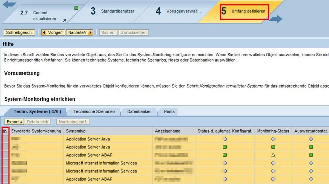 Alerting mittels Solution Manager