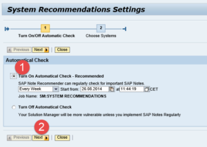 Solution Manager System Recommendations
