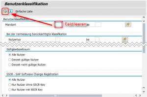 SAP Benutzerliste