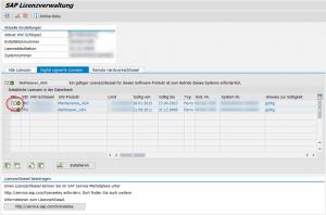 SAP Solution Manager Wartungslizenz - Aktualisierte Wartungslizenz