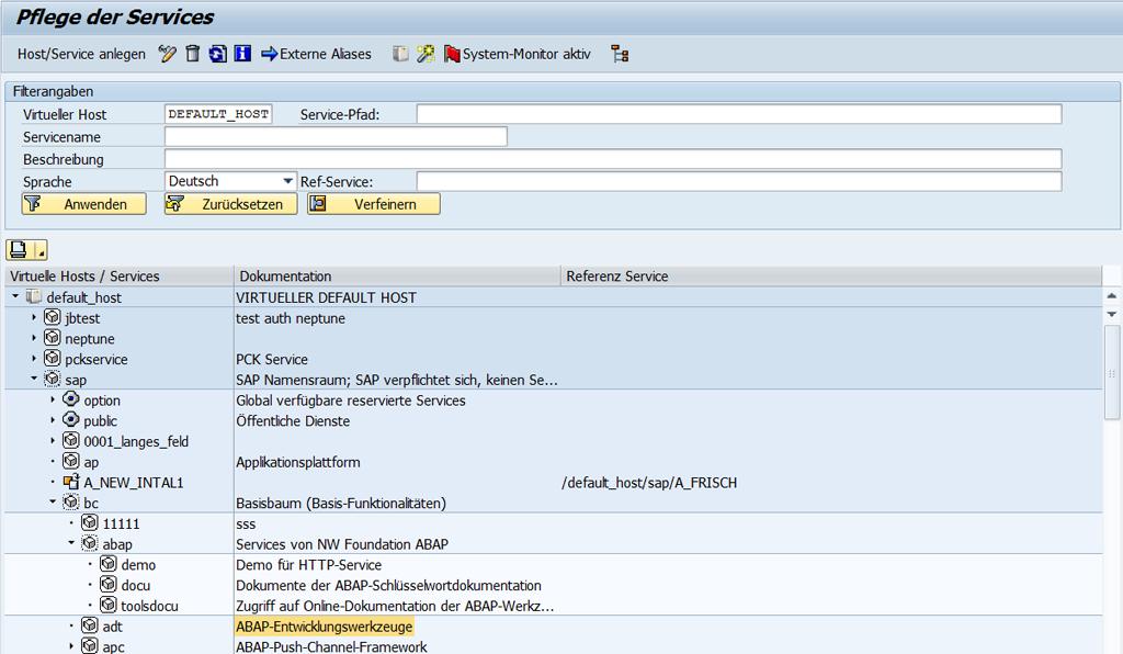 ADT Back-End-Konfiguration: Voraussetzungen für die Integration
