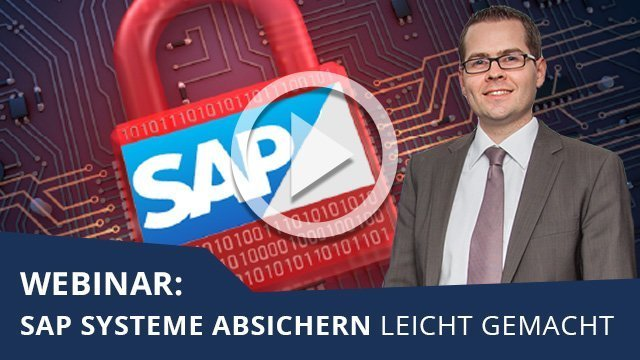 Webinar: SAP Systeme absichern