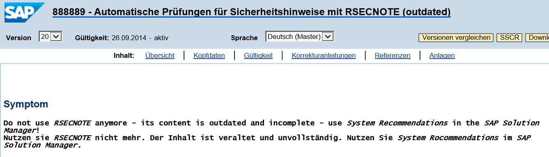 Systemempfehlungen mit SAP Solution Manager