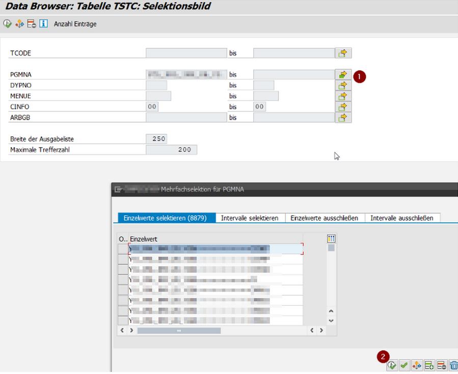 SAP Reports ohne Transaktionscode finden und verwenden, Schritt 1