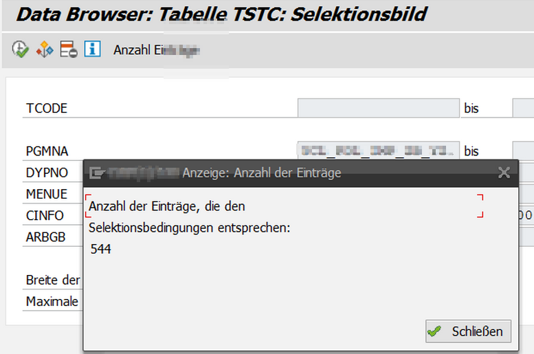 SAP Reports ohne Transaktionscode finden und verwenden, Schritt 2