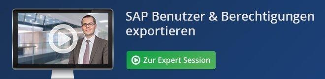 SAP Benutzer & Berechtigungen exportieren