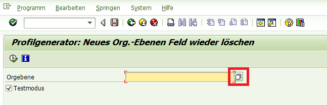 SAP Orgebenen