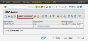 SAP Kernel Version SM51 Teil 1