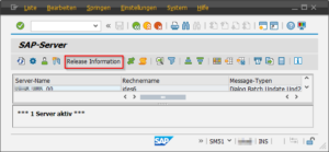 SAP Kernel Version SM51 Teil 1