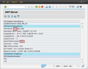 SAP Kernel Version SM51 Teil 2