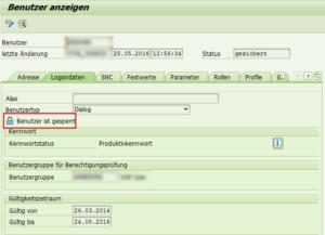 SAP Benutzersperren