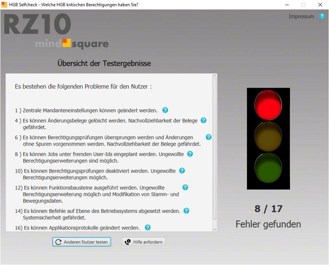 SAP Sicherheitsprüfung mit HGB Check