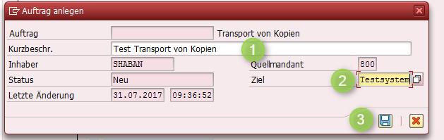 Transporte von Kopien - Beschreibung
