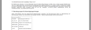 Schriftliches Berechtigungskonzept mit aktuellen Daten aus dem System