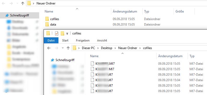 Transportaufträge Download Ergebnis