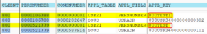 Überprüfen des Feldes APPL_FIELD der Tabelle ADRVP