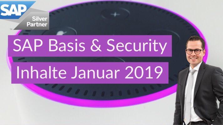 SAP Basis & Security: Inhalte Januar 2019 - rz10 de - alles
