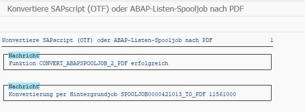 Große Spool-Aufträge und Listen in eine Datei exportieren