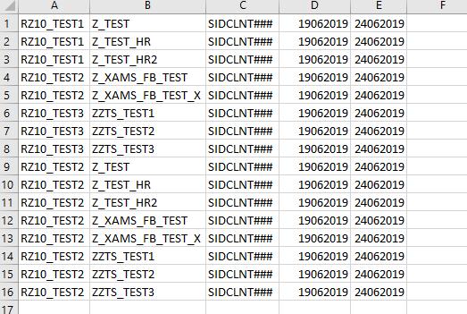 Excel-Datei mit Rollenzuordnungen