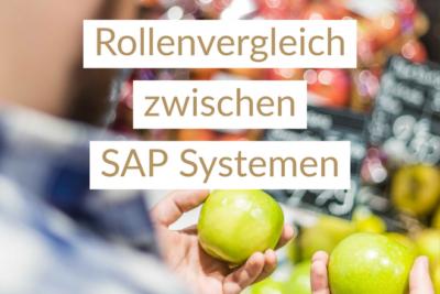 Rollenvergleich zwischen SAP Systemen