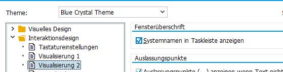 SAP GUI - Haken setzen bei Systemnamen in Taskleiste anzeigen